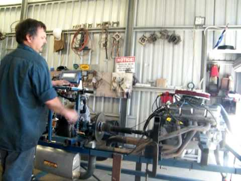 homemade engine dyno holden 308 red motor