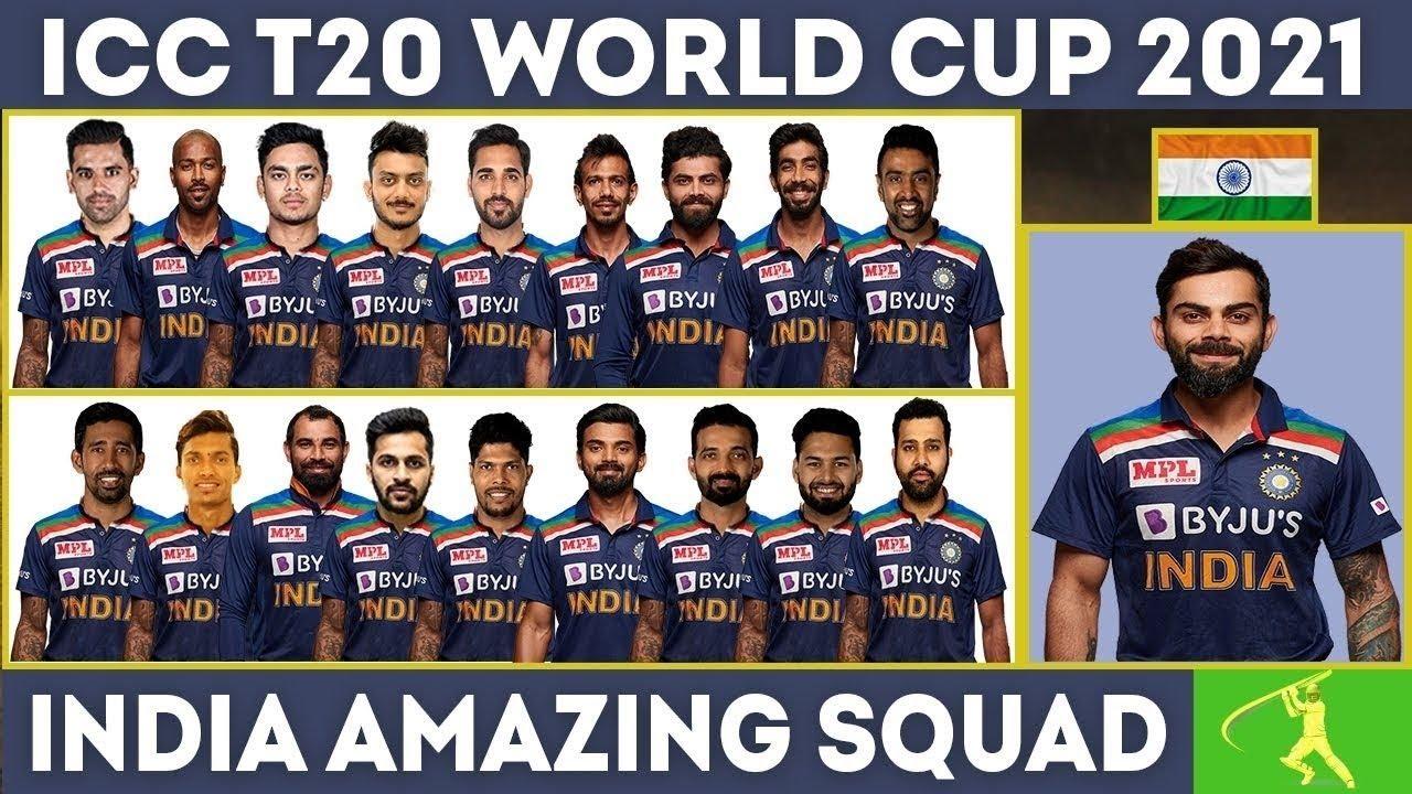 ICC T20 World Cup 2021 India amazing Squad