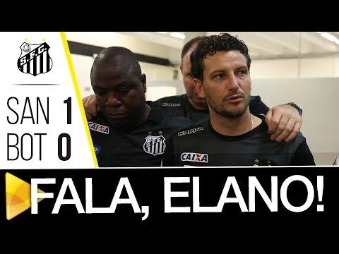 Elano analisa vitória sobre o Botafogo