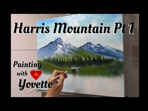 Painting with Yovette, Harris Mountain, Pt 1, Oil