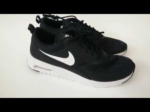 4ddcf3d78ad2 UNBOXING- Black Nike Air Max Thea - YouTube