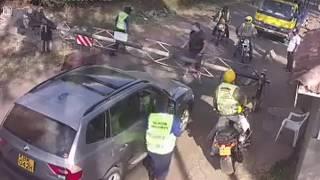 Mzungu Assaults Kenyan Security Guard In Broad Daylight