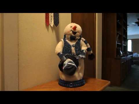 Rare Gemmy Animated Blue Peppermint spinning snowman review