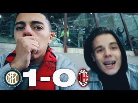 INTER vs MILAN 1-0 | LIVE REACTION TIFOSI ROSSONERI CURVA SUD HD w/Enry Lazza