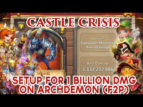 Castle Clash: Archdemon Area Damage | 1 Billion+ Damage | F2P Heroes