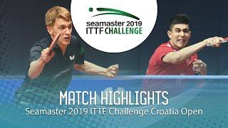 Anton Kallberg vs Kanak Jha | 2019 ITTF Challenge Croatia Open (R16)