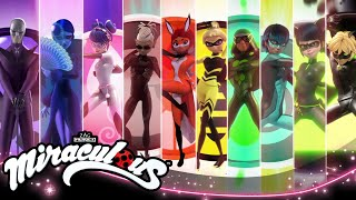 MIRACULOUS | 🐞 ALL TRANSFORMATIONS 🐞 | Tales of Ladybug and Cat Noir
