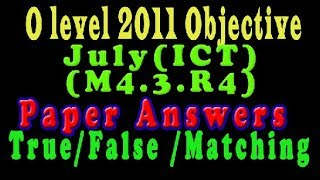 O Level Doeacc/Nielit  2011 July Solve Question  ICT (M4.3.R4)Paper In English (Objection Type)