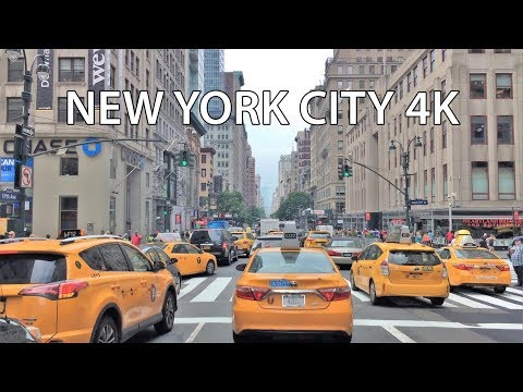 Driving Downtown - NYC's Top Shop Street 4K - New York City USA