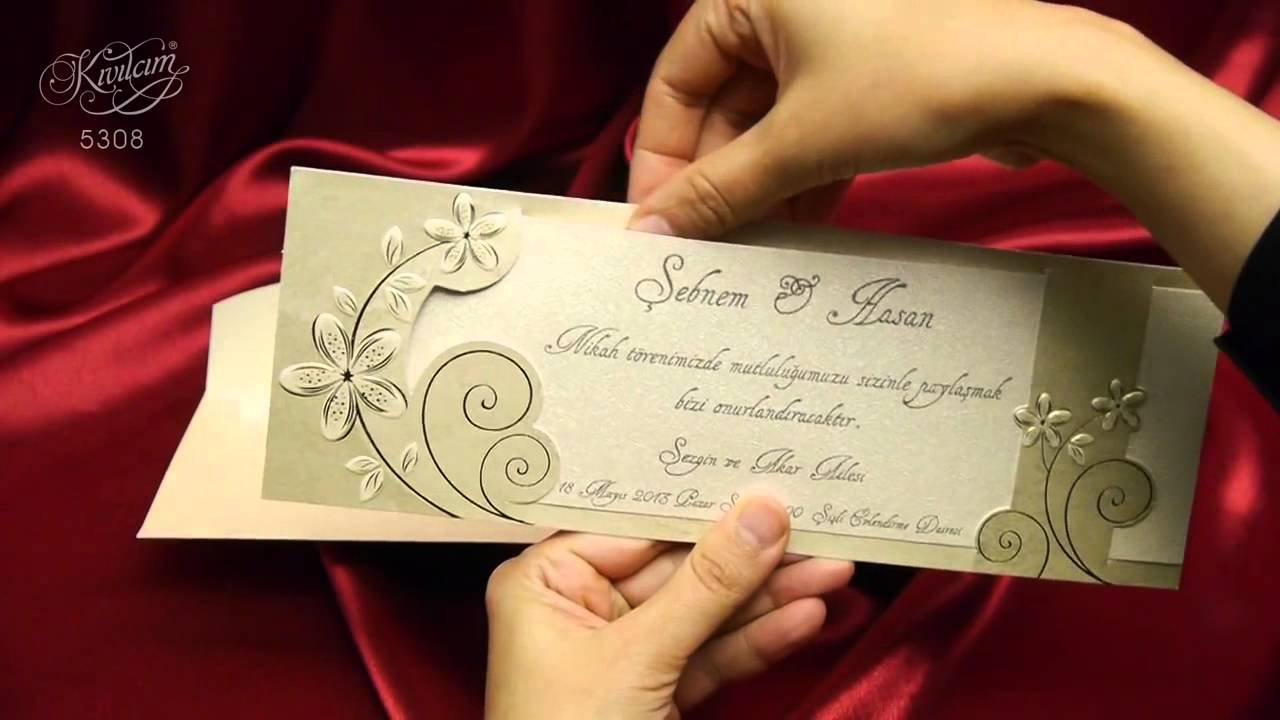 Invitatii Nunta Ar Cards 5308 Video Invitatie Nunta Model Floral