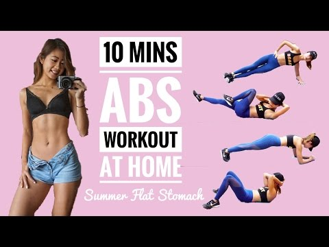 10 min Intense Ab Workout: No Equipment At Home Routine to Burn Belly Fat