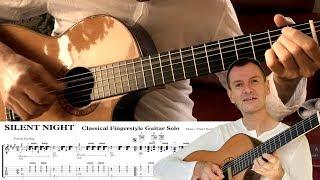 Silent Night TAB TUTORIAL Fingerstyle Guitar Solo Arrangement Instrumental STILLE NACHT Gitarre