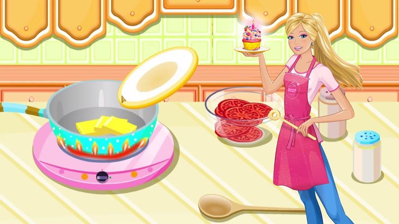 Main Masak Masakan Membuat Pizza Bersama Berbie Permainan Anak Perempuan Youtube
