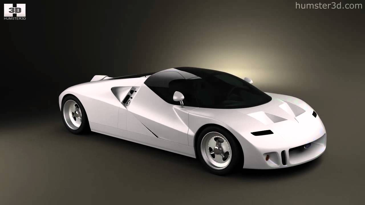 ford gt90 1995 by 3d model store youtube. Black Bedroom Furniture Sets. Home Design Ideas
