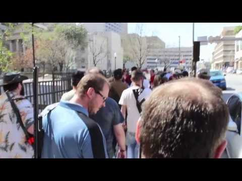 Open Carry Walk, Downtown Ft Worth 3/1/14
