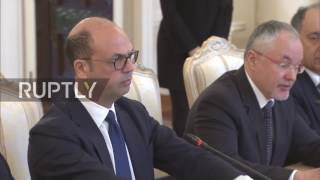 Russia  Lavrov and Italian FM Alfano tout bilateral ties in Moscow meeting