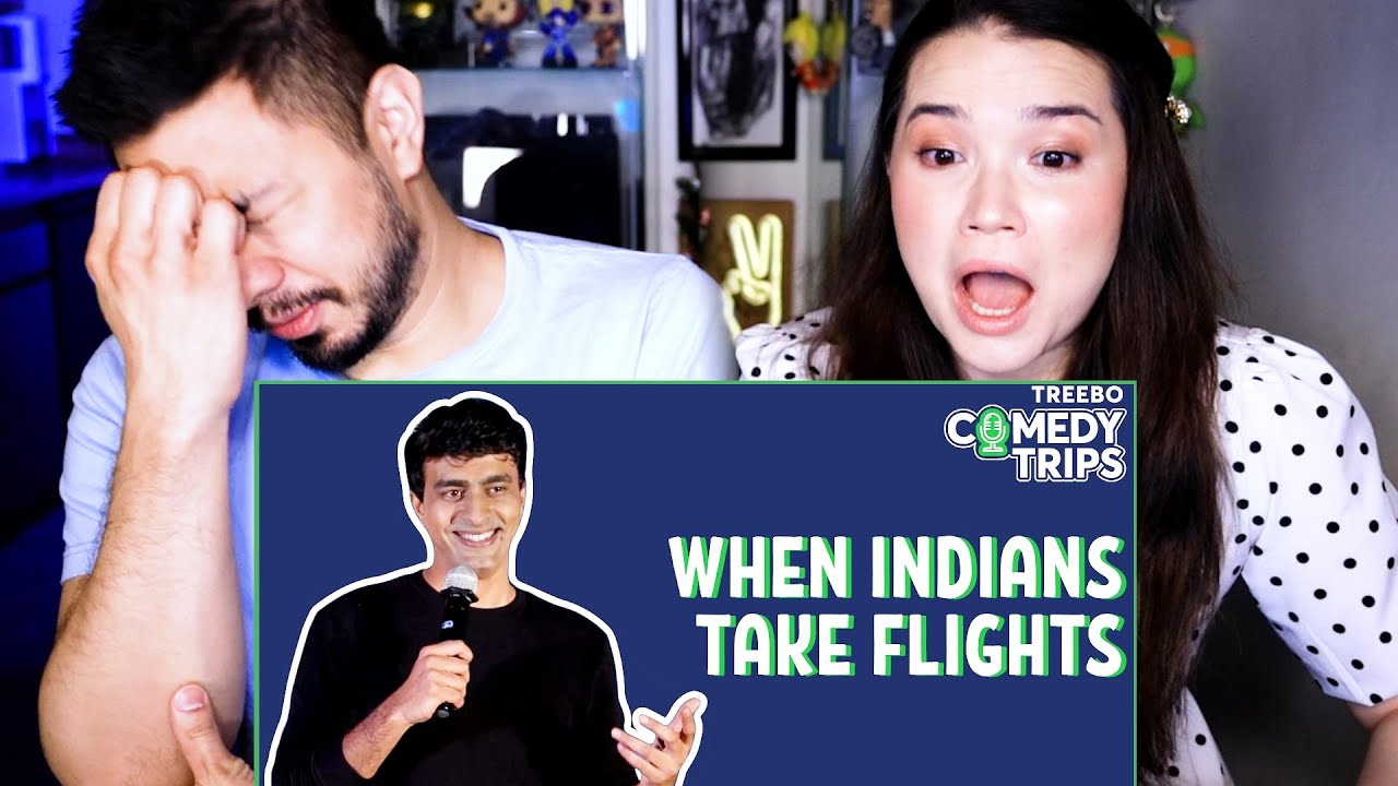 VARUN THAKUR   When Indians Take Flights   Stand Up Comedy Reaction by Jaby Koay & Achara Kirk!