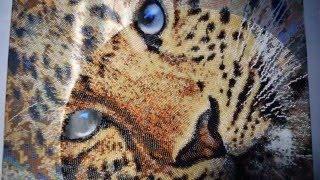 Леопард. Продвижение процесса+как я вышиваю бисером.