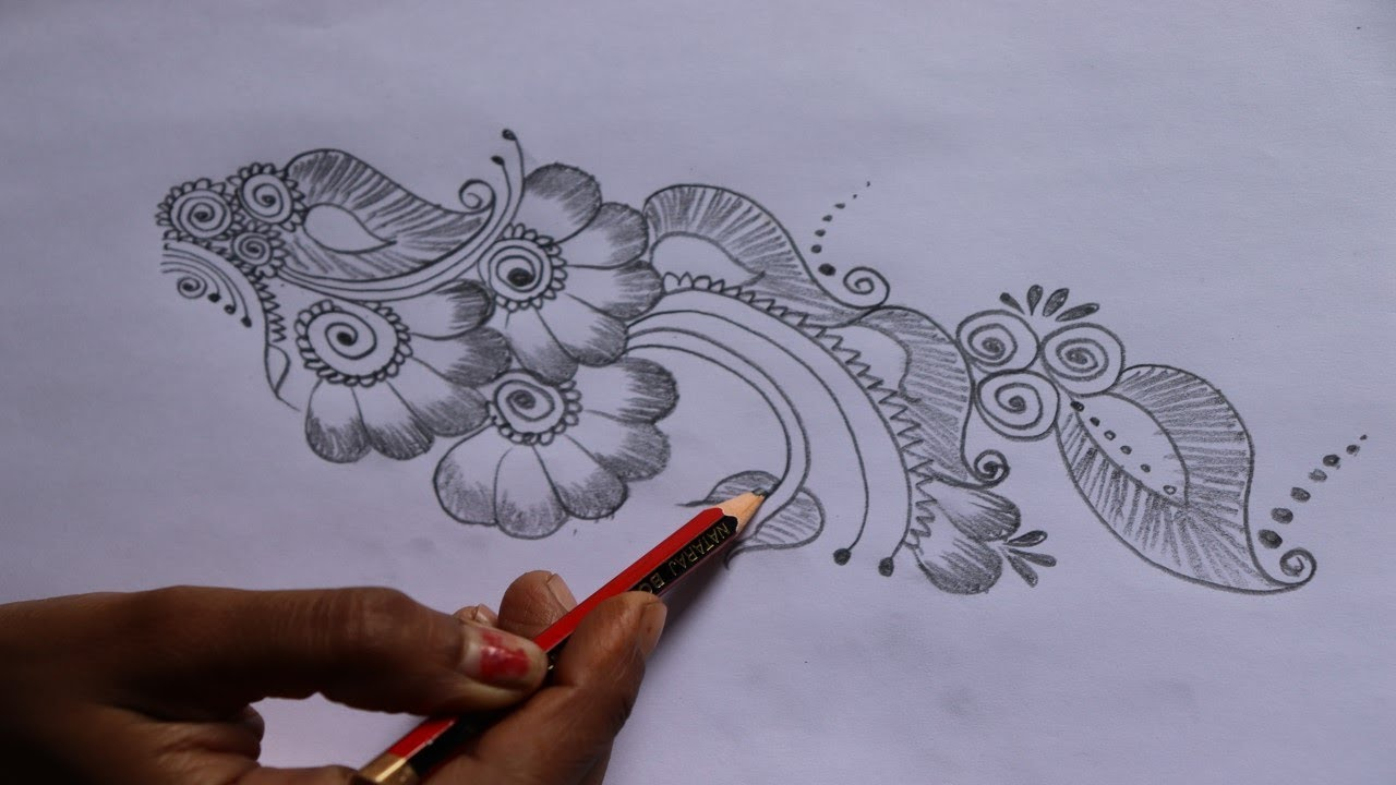 Mehndi Design On Paper How To Make simple Uniqe Henna Mehndi Art On Pape