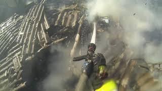 Пожар в частном доме на ул Карпатская 27 09 2017