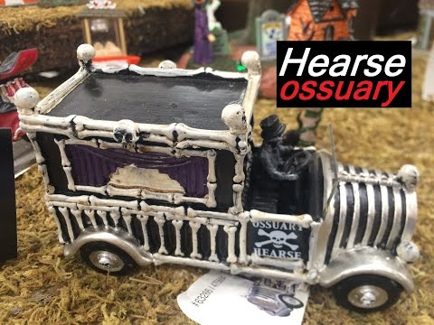 Halloween Witch Prop Songs for Children Kids Hearse Ossuary Skeleton RIP Fence Pillars Scary Sounds