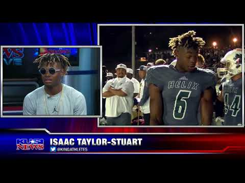 Silver Pigskin finalist Isaac Taylor-Stuart talks about his college commitment with Paul Rudy
