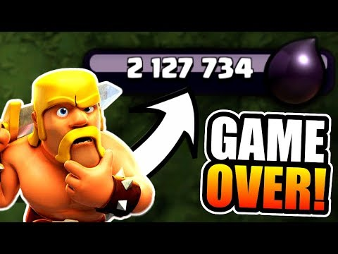 2 MILLION DARK ELIXIR SPENT!....GAME OVER!! - Clash Of Clans