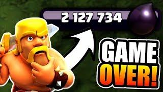 2 MILLION DARK ELIXIR SPENT!....GAME OVER!! - Clash Of Clans