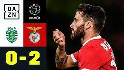 Pyrochaos und Joker-Show von Rafa Silva: Sporting - Benfica 0:2 | Primeira Liga | DAZN Highlights
