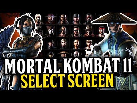 Mortal Kombat  Select Screen Design