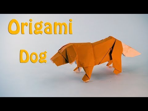 Origami Dog - How To Make A Paper Dog! - YouTube