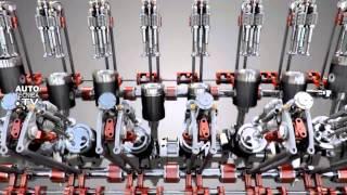 Cómo es por dentro un motor de vehículos pesados V16 Caterpilar. www.autotecnica.TV