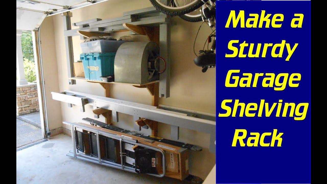 Make A Strong Adjustable Garage Shelf In Weekend