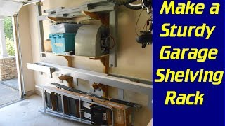 Make A Strong, Adjustable Garage Shelf In A Weekend