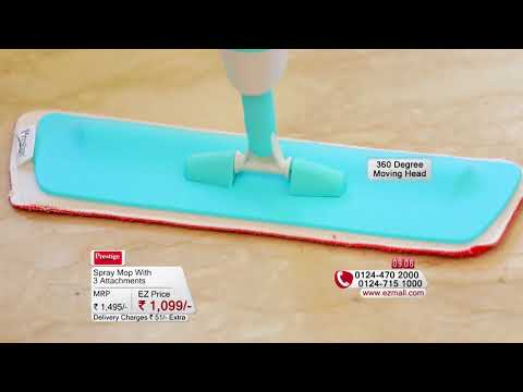 Ezmall | Prestige Spray Mop with 3 Attachments