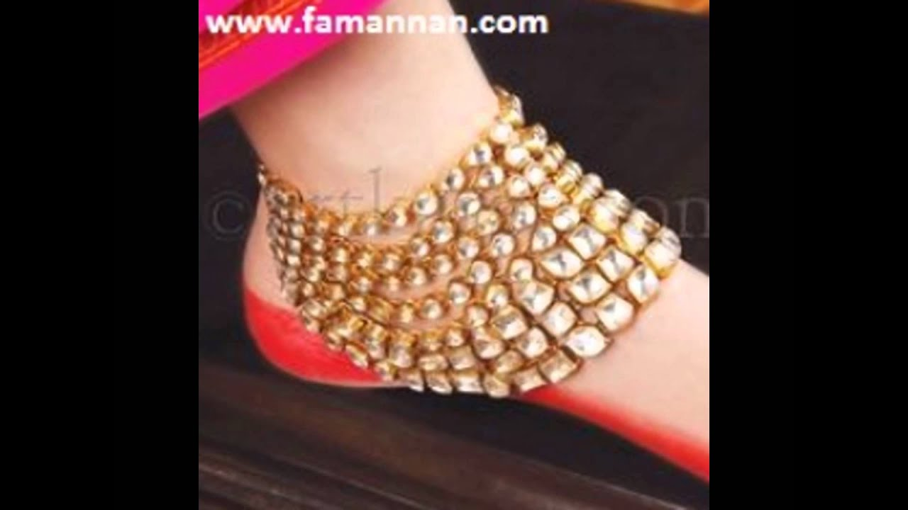Ankle Bracelet Payal Gold and Silver New Marriage Fashion ...