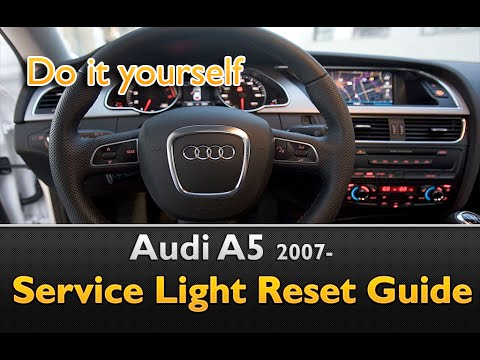 Audi A5 Service Light Interval Maintenance Oil Life Reset Youtube