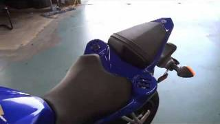 Yamaha R6 Motorcycle with amp and speakers.mp4