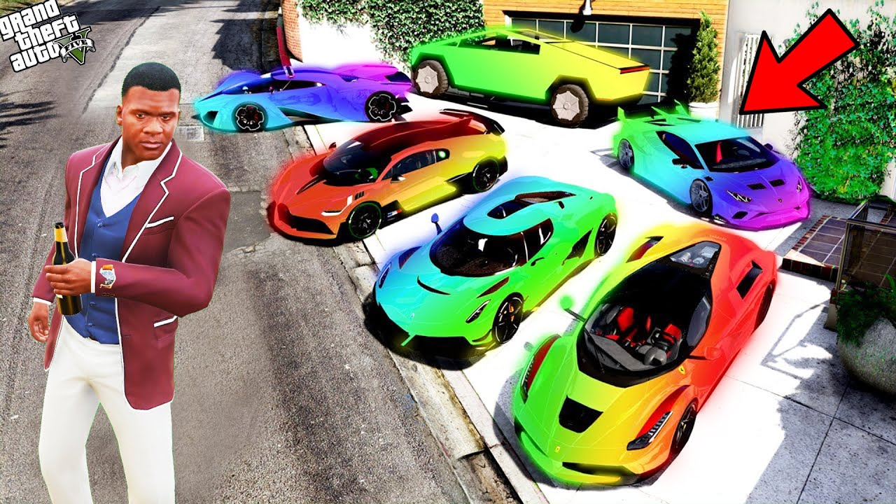 GTA 5 : Collecting Enchanted Super Car in GTA 5 ! (GTA 5 mods)