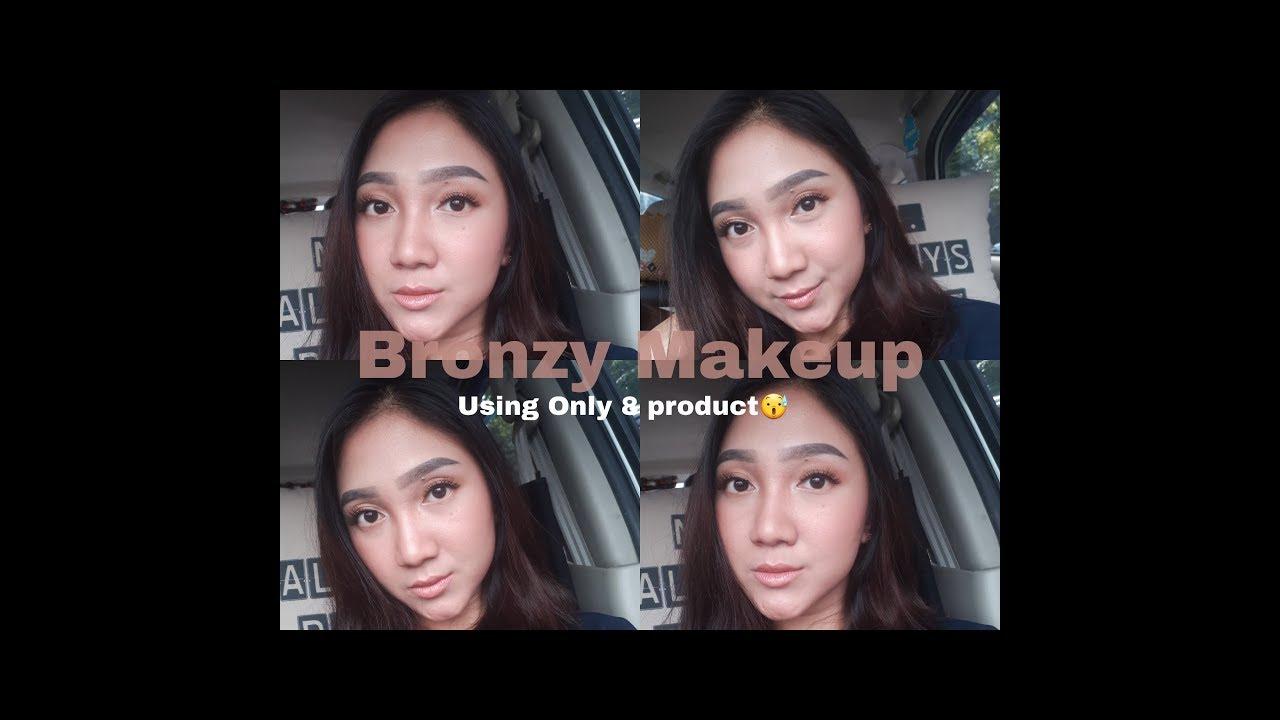 Bronzy Makeup Look Neutral Using Lakme Product 15 Menit Pensil Alis Azalia Putri