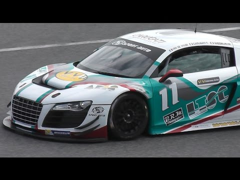 AUDI R8 Race car SOUND - V10 engine 560 bhp @ 8,000 rpm