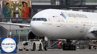 garuda indonesia boeing 777 300er aircraft cockpit cabin and crew rest visit