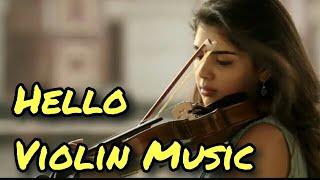 Akhil Hello Movie Violin LOVE BGM
