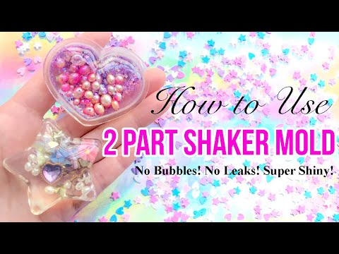 How to use 2 part shaker mold (No bubbles! no leaks! super shiny!) - by MiniatureSweet