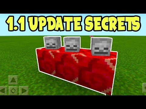 MINECRAFT POCKET EDITION 1.1 UPDATE - SECRET FEATURES!!