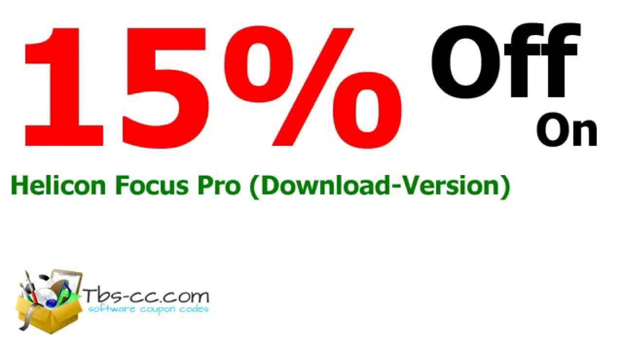 Helicon focus pro coupon code