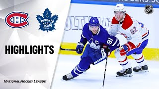 NHL Highlights | Canadiens @ Maple Leafs 1/13/21