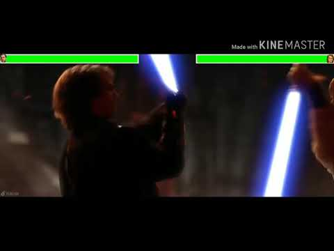 Star Wars Lll Revenge Of The Sith Final Battle With Healthbars 1/2