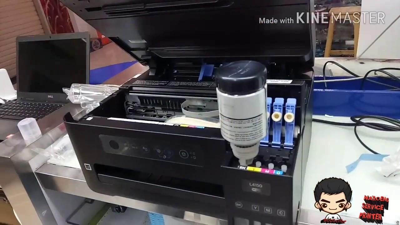 cara ink charging printer epson L4150 dan unboxing printer epson L4150