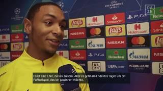 Abdou Diallo im Interview mit DAZN vor Monaco vs Dortmund